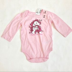 The Children's Place Long Sleeve Unicorn Bodysuit